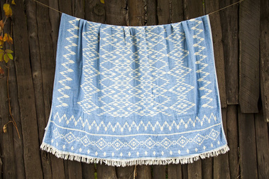 Покрывало Barine KILIM THROW BLUE, 130х170 см.