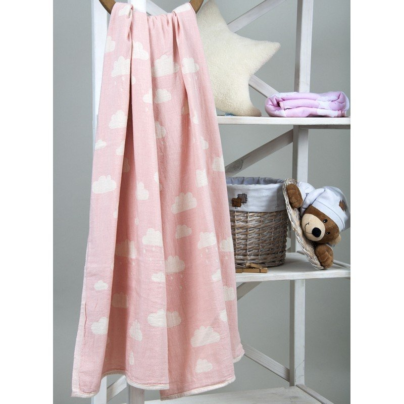 Детский плед Barine CLOUD THROW PINK, 130х170 см.