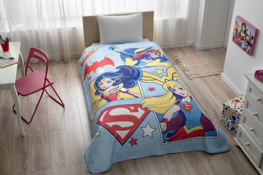 Плед Tac Disney SuperHero Girls, 160х220 см.