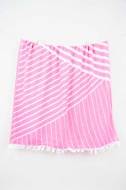 Полотенце BARINE CROSS PINK Розовое 95x165 см.