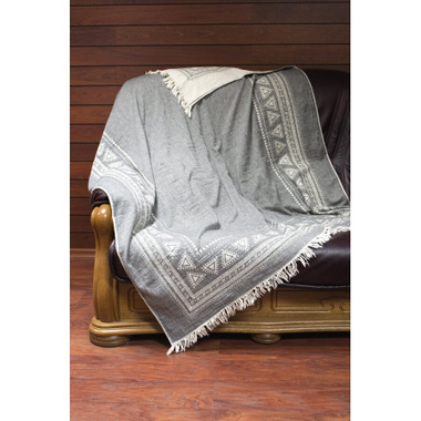 Плед-накидка Barine - Mono Throw grey сірий, 130х170 см.