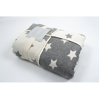 Плед мікроплюш Barine - Star Patchwork throw black чорний, 130х170 см.