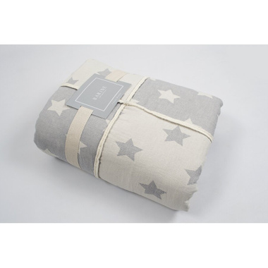 Плед мікроплюш Barine - Star Patchwork throw grey сірий, 130х170 см.