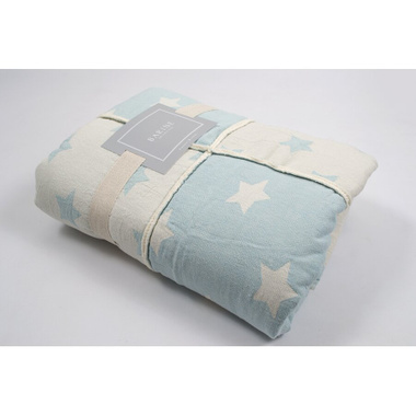 Плед мікроплюш Barine - Star Patchwork throw mint ментоловий, 130х170 см.