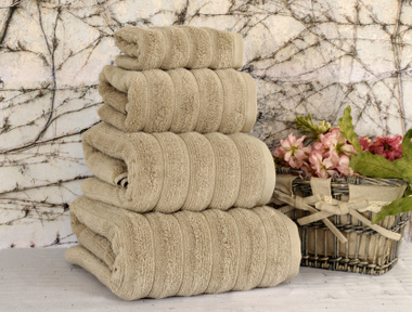 Полотенце Irya Waves Beige 70x130 см. Бежевый